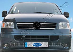 Хром-накладка на решетку радиатора Volkswagen Transporter T-5 2003-2010