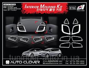 Декоративные хром накладки на панель Hyundai Accent 2010+
