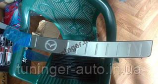 Защитная накладка на верхнюю часть заднего бампера Mazda 6 New