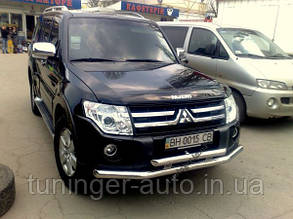 Защита переднего бампера.Дуга.Кенгурятник Mitsubishi Pajero Wagon 2006-