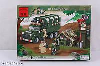 """Конструктор BRICK 811 """"Военный лагерь с грузовиком"""" (308 деталей)"""