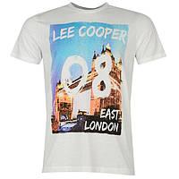 Футболка мужская Lee Cooper Photo белая, фото 1