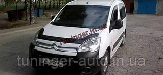 Мухобойка,дефлектор капота Citroen Berlingo 2008-/Peugeot Partner 2008- (VIP)