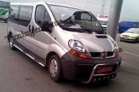 Защита переднего бампера. Кенгурятник Renault Trafic 2001-2012