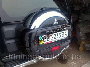 Хром чехол на запасное колесо Mitsubishi Pajero Wagon 4 2007->