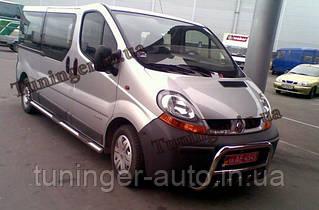 Защита переднего бампера. Кенгурятник Opel Vivaro 2001-2012