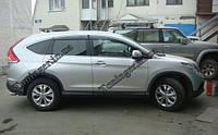 Ветровики с хромом, дефлекторы окон Honda CR-V New 2012->, фото 1