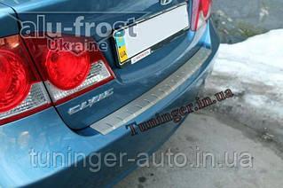 Защитная накладка на верхнюю часть заднего бампера Honda Civic Sed. 2006-2011