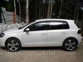 Ветровики, дефлекторы окон Volkswagen Golf 6 2008-2012 (Hic)