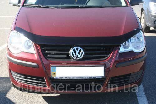 Мухобойка, дефлектор капота Volkswagen Polo 2005-2010 (EGR)