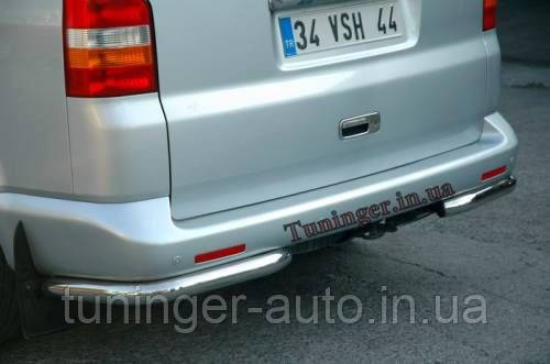 Защита заднего бампера , углы Volkswagen Transporter T5 2003+