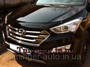 Мухобойка, дефлектор капота Hyundai Santa Fe 2012+
