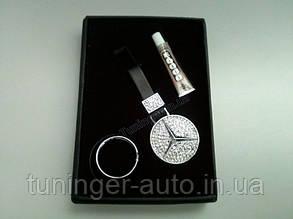 Брелок на ключи со стразами Mercedes Benz