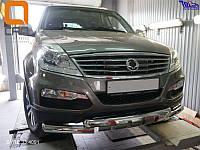 Защитная дуга переднего бампера, кенгурятник Ssang Young Rexton 2012+