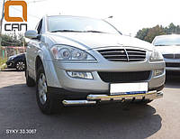 Защитная дуга переднего бампера,кенгурятник Ssang Young Kyron 2005+