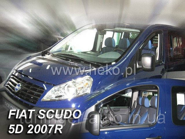 Вітровики, дефлектори вікон Fiat Scudo(Peugeot Expert ) 2D 2008-2015 (HIC/Вставний)