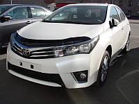 Мухобойка,дефлектор капота Toyota Corolla 2013- (Sim)
