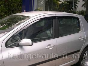 Ветровики, дефлекторы окон Peugeot 307 HB 2001-2008 (Hic)