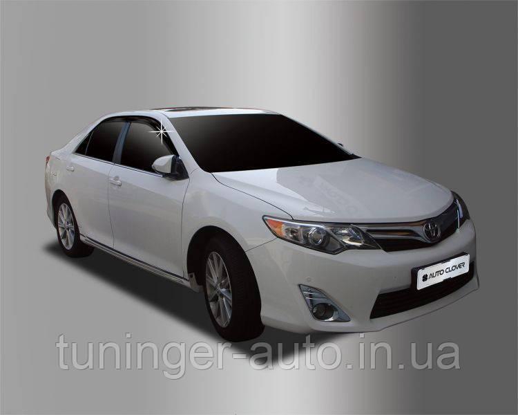 Ветровики, дефлекторы окон Toyota Camry V50 2011-2014 (Autoclover)