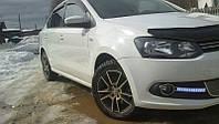 Мухобойка, дефлектор капота Volkswagen Polo 2010-2015 (Anv)