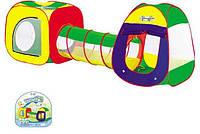 Игровая палатка для детей 889-7В имеет два домика и труба