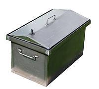 Коптильня черный металл 520х300х310 домик