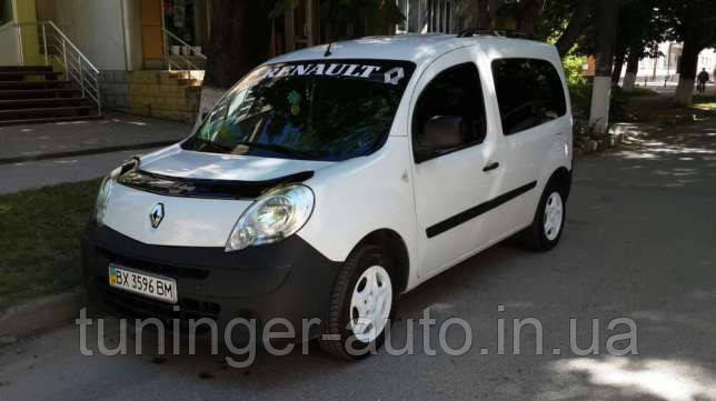 Мухобойка, дефлектор капота Renault Kangoo 2008- (Vip)