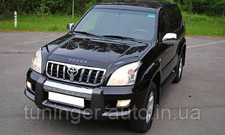 Мухобойка, дефлектор капота Toyota Land Cruiser Prado 120 2002-2009 г.в. (Vip)