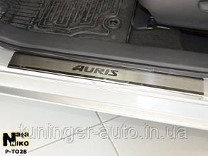 Накладки на пороги Toyota Auris 2013- (Nata-Niko)