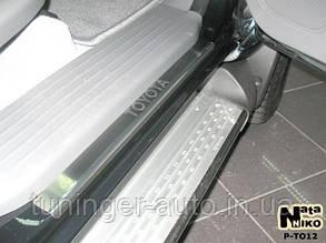 Накладки на пороги Toyota Hilux II 4D 2005- (Nata-Niko)