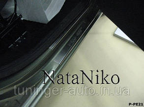 Накладки на пороги Citroen Berlingo II 2008- (Nata-Niko)