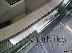 Накладки на пороги Jeep Compas 2007- (Nata Niko)