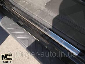 Накладки на пороги Nissan Pathfinder III 2004- (Nata-Niko)
