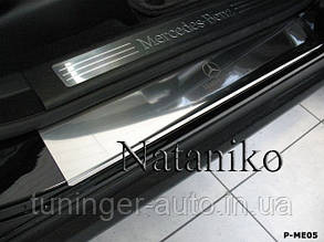 Накладки на пороги Mercedes ML W164 2005-2011 (Nata-Niko)