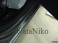 Накладки на пороги Peugeot Partner II 2008- (Nata-Niko)