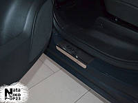 Накладки на пороги Opel C Tourer 2012- (Nata-Niko)