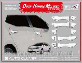 Хром накладки на ручки Toyota Corolla 2013- (Autoclover)