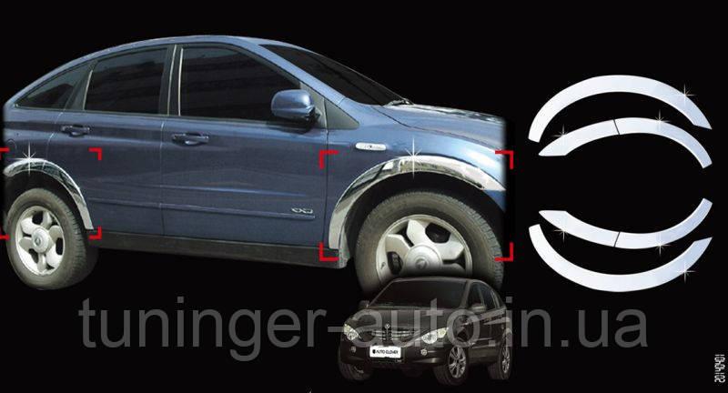 Хром на колесные арки Actyon 2005-2012 (Autoclover/Корея)