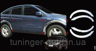 Хром на колесные арки Actyon 2005-2012