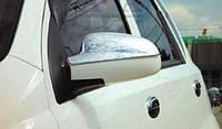 Хром-накладки на зеркала Chevrolet Aveo I-II 2002-2005 (Cromax)