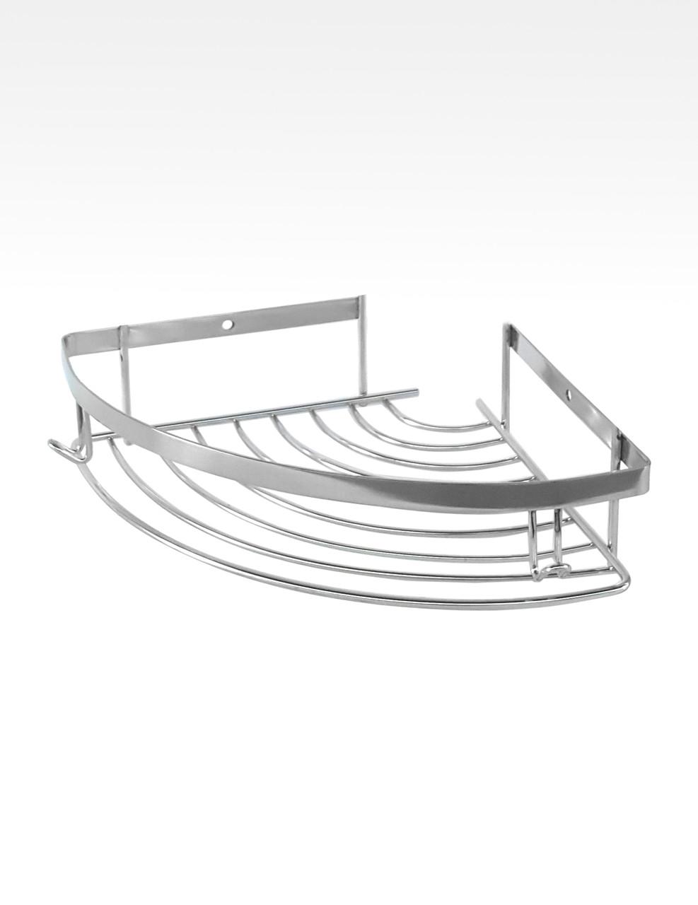 Угловая полка в ванную нержавеющая сталь