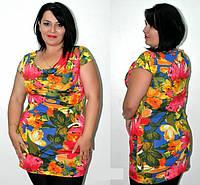 Женская туника средних и больших размеров, размеры: 48 - 56, красивые женские туники в розницу и оптом.