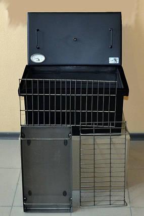Коптильня окрашенная 520х300х280 с термометром, фото 2