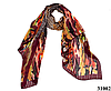 Леопардовый каштановый шарф