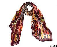 Леопардовый каштановый шарф, фото 1