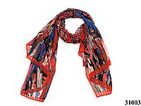 Леопардовый красный шарф, фото 1