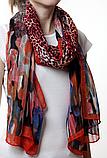 Леопардовый красный шарф, фото 3