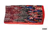 Леопардовый красный шарф, фото 4