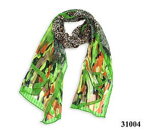 Леопардовый зеленый шарф