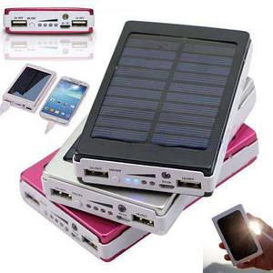 Солнечный внешний аккумулятор Power Bank 25000 mah